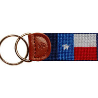 Texas Flag Needlepoint Key Fob | Smathers & Branson