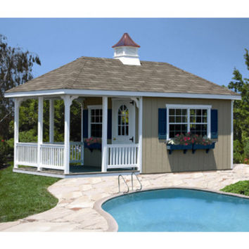 Homeplace 20 Ft. W x 10 Ft. D Wood Garden Shed   Wayfair