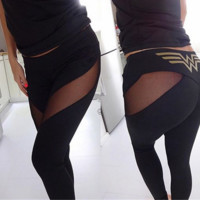 Mesh stitching slim movement Leggings