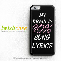 Cool Brain Song Music Cute Funny Quote iPhone 6 Case iPhone 6 Plus Case Cover