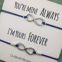 Infinity Bracelet Set | His and Hers Bracelets | Your Mine Always-I'm Yours Forever | Friendship Infinity Bracelets | Infinity | Love