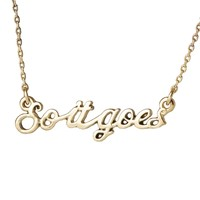 So it goes Necklace | Outofprintclothing.com