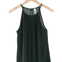 Emerald Pleated Halter Top