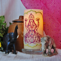 Lakshmi the Hindu Goddess Embroidered and by FrogBirdsHouse