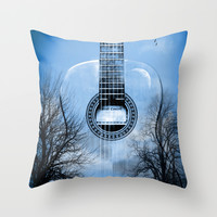 MUSIC Throw Pillow by Mark Ashkenazi
