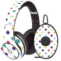 Polka Dot Explosion on White Decal Skin for Beats Studio Headphones & Carrying Case by Dr. Dre