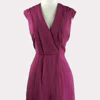 Bordeaux Wrap Dress