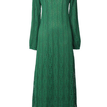 Cupshe Leaves Curtain Lace Maxi Dress