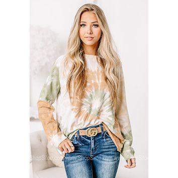 It Comes Naturally Long Sleeve Tie Dye Top
