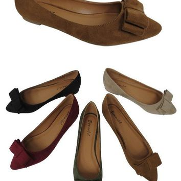 HETTY BOW ACCENT FLATS - NATURAL