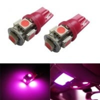 iJDMTOY 5-SMD 168 194 2825 T10 LED Car Interior Map Dome Light Bulbs, Magenta Pink