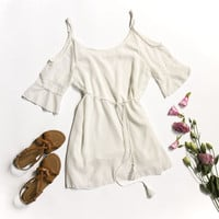 White Lace Off the Shoulder Summer Dress