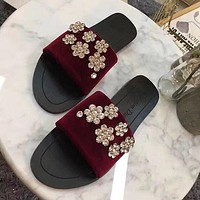 Dior Women Casual Fashion Diamonds Sandals Slipper Shoes