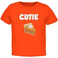 Thanksgiving Cutie Pie Orange Toddler T-Shirt