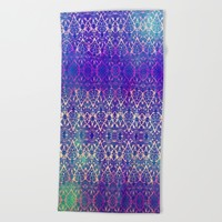BABEELON BLUE Beach Towel by Chrisb Marquez