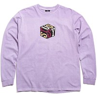 Cube Pigment Dyed Long Sleeve T-Shirt Lavender