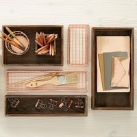 Design Ideas Rose Gold Wire Drawer Organizers