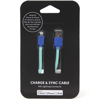PacSun Colorblock iPhone 5 Charge & Sync Cable - Womens Scarves - Green - One