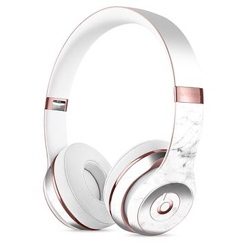 White and Gray Neutral Marble Surface Full-Body Skin Kit for the Beats by Dre Solo 3 Wireless Headphones