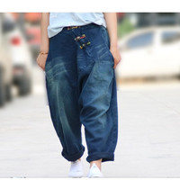 Loose female jeans