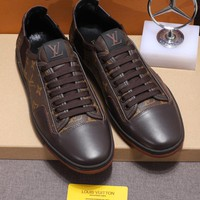 LOUIS VUITTON LV Men Casual Shoes Boots  fashionable casual leather