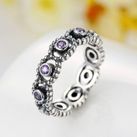 925 Sterling Silver LOVE Ring with Crystal