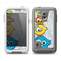 The Tower of Highlighted Cartoon Birds Samsung Galaxy S5 LifeProof Fre Case Skin Set