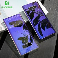 FLOVEME Case For Samsung Galaxy Note 9 8 Blue Ray Phone Cases For Samsung Galaxy S8 S9 Plus S7 Edge Hard PC Cover Case Capinhas