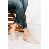 Come With Me Snake Print Mule Slides (Nude)