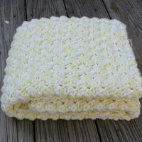 Made to Order Crochet Baby Photo Prop,  Pram Blanket,  Double Strand, Car Seat Cover, Stroller Blanket, Textured Photo Prop