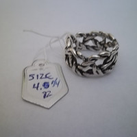 Wire Wrap Style Sterling Silver Ring, Size 4 1/4, 4.85 grams