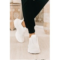 Best Of The Bunch Chunky Sole Sneakers (White)