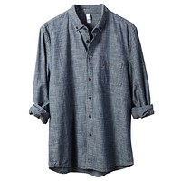 PREMIUM Mens Classic Eco-Friendly Button Down Chambray Industry Shirt (CLEARANCE)