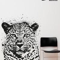 Vinyl Wall Decal Sticker Spray Paint Leopard #OS_AA652