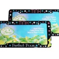 A Set of 2 Plastic Glitter Automotive License Plate Frame - Disney Tinker Bell TINK Perfect Pixie