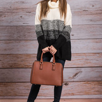 So Content Sweater, Black-Ivory