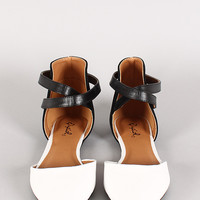 Qupid Pointer-70 Two Tone Pointy Toe Flat