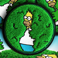 DISAPPEARING HOMER IRON ON PATCH *PRE ORDER*