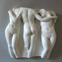 Three Graces Greek Wall Relief for Indoors or Outdoors  15H or 29H