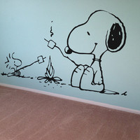 Snoopy Peanuts Wall Decal Vinyl Wall Decor Kids Wall Art Nursery Decal