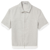 Chalayan - Metallic Cotton-Blend Short-Sleeve Shirt | MR PORTER