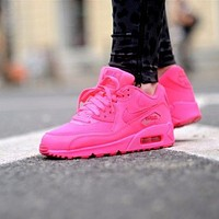 Nike Air Max WMNS 90 Gs Hpyer Pink Running Shoes Sport Shoes 345017-601
