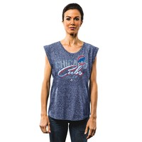 Majestic Chicago Cubs Rockin' the Crowd Muscle Tee - Women's, Size: