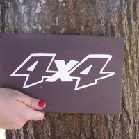 Car Logo Sign Toyota, 4x4, Chevy, Jeep, Ford, Hand Painted Wood Signs plaque