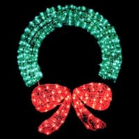"""48"""" Lighted Crystal Wreath - Indoor / Outdoor Lighted Decorations - 400 Lights"""