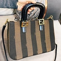 Hipgirls Fendi Fashion new stripe shopping leisure crossbody bag handbag shoulder bag