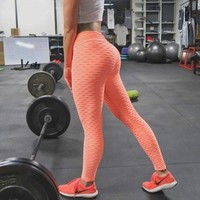 FRECICI Sexy Flaws Textured Booty Leggings High Waist  Flaws Booty Tights Workout Fitness Sports Pants Push Up Hip Yoga Pants