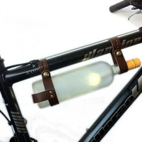 Bicycle Wine Rack - Leather - Multi-Size (Brown)