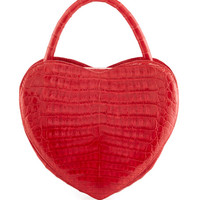 Nancy Gonzalez Heart-Shaped Crocodile Crossbody Bag