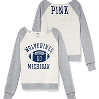 University of Michigan Bling V-neck Tee - PINK - Victoria's Secret